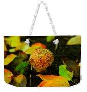 Small Mushroom In Autumn Weekender Tote Bag