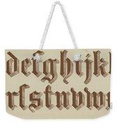 Small Old English Riband  Weekender Tote Bag