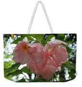 Small Orange Flower Pink Heart Leaves Weekender Tote Bag