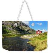 Small Red Cabin In Norway Weekender Tote Bag