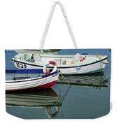 Small Skiffs - Lyme Regis Harbour Weekender Tote Bag