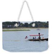 Small Stream Boat Weekender Tote Bag