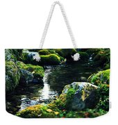 Small Stream In Green Forest Lapland Weekender Tote Bag