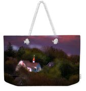 Small Town Church Weekender Tote Bag
