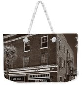 Small Town Shops - Sepia Weekender Tote Bag