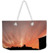 Small Town Sunset Weekender Tote Bag