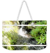 Small Waterfall Smoky Mountains Triptych Weekender Tote Bag