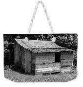 Small White Barn B W Weekender Tote Bag