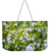 Small White Flowers Weekender Tote Bag