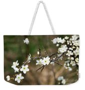 Small White Flowers Of Thorns Weekender Tote Bag