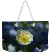 Small White Poppy Weekender Tote Bag