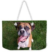 Smiling Boxer Dog Weekender Tote Bag