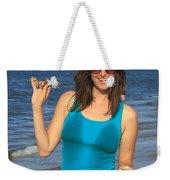 Smiling Hottie At The Beach Weekender Tote Bag