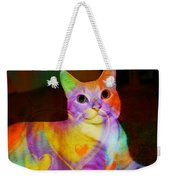 Smiling Kitty Weekender Tote Bag