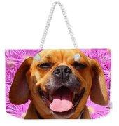 Smiling Pug Weekender Tote Bag