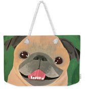 Smiling Senior Pug Weekender Tote Bag