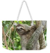Smiling Sloth Weekender Tote Bag