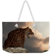 Smilodon Californicus Lookout Weekender Tote Bag