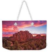 Smith Rock Sunset Weekender Tote Bag