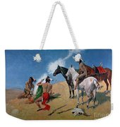 Smoke Signals Weekender Tote Bag by Frederic Remington