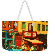 Smoked  Meat Sandwiches Await Weekender Tote Bag