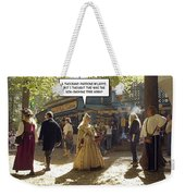 Smoking Or Non Weekender Tote Bag