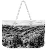 Smoky Mountains In Black And White Weekender Tote Bag