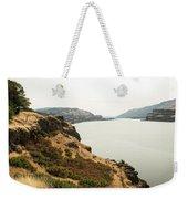 Smoky Sky Gray River Weekender Tote Bag
