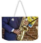 Smooth Sax Man Weekender Tote Bag