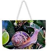 Snail On A Bush Version 2 Weekender Tote Bag