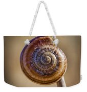 Snail On A Stick Weekender Tote Bag