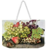 Snail With Grapes And Pears Weekender Tote Bag