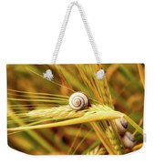 Snails On Wheat Weekender Tote Bag