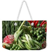 Snake Beans. At The Surin Elephant Weekender Tote Bag