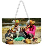 Snake Charmer And Apprentice Weekender Tote Bag