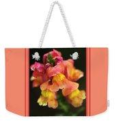 Snapdragon Flowers With Design Weekender Tote Bag