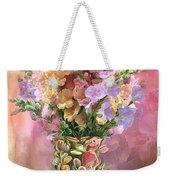 Snapdragons In Snapdragon Vase Weekender Tote Bag