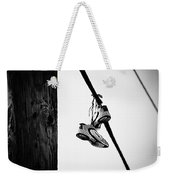 Sneakers On Power Line Weekender Tote Bag