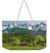 Sneffels Range Spring Acrylic Weekender Tote Bag