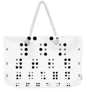 Snellen Chart - Braille Weekender Tote Bag