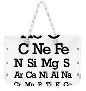 Snellen Chart - Chemical Abundance In Universe Weekender Tote Bag