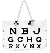 Snellen Chart - Full Alphabet Weekender Tote Bag