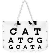 Snellen Chart - Genetic Sequence Weekender Tote Bag