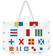 Snellen Chart - Nautical Flags Weekender Tote Bag