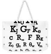 Snellen Chart - Physical Constants Weekender Tote Bag