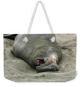Snoring Elephant Seal Weekender Tote Bag