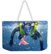 Snorkeling At The Great Barrier Reef Weekender Tote Bag