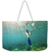 Snorkeling In Coral Reef Weekender Tote Bag