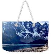 Snow Above Moraine Lake Weekender Tote Bag