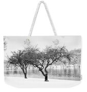 Snow Along The Schuylkill River Weekender Tote Bag